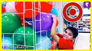 TARGET SHOPPING HAUL! Compilation of Toys + a HUGE Surprise Egg by HobbyKidsTV