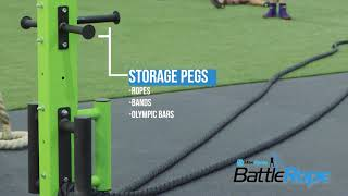 Power Battle Ropes Fitness Training Storage Equipment