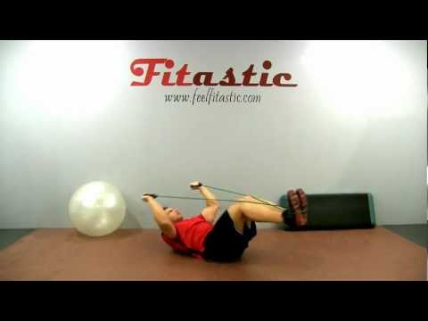 Resistance Band Knee Tuck Crunch