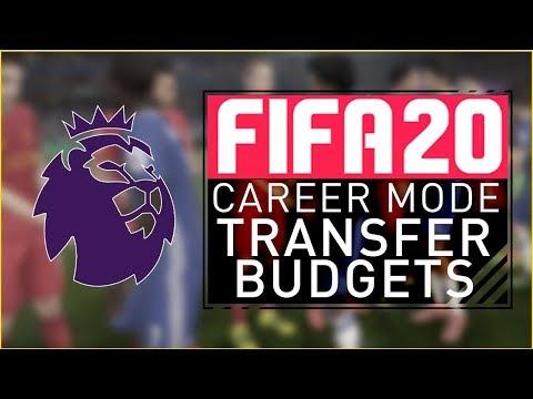 OFFICIAL FIFA 20 Career Mode - PREMIER LEAGUE TRANSFER BUDGETS!!
