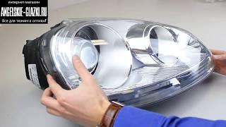 как разобрать-собрать фару. Установка билинз в VW Golf V 5. Инструкция