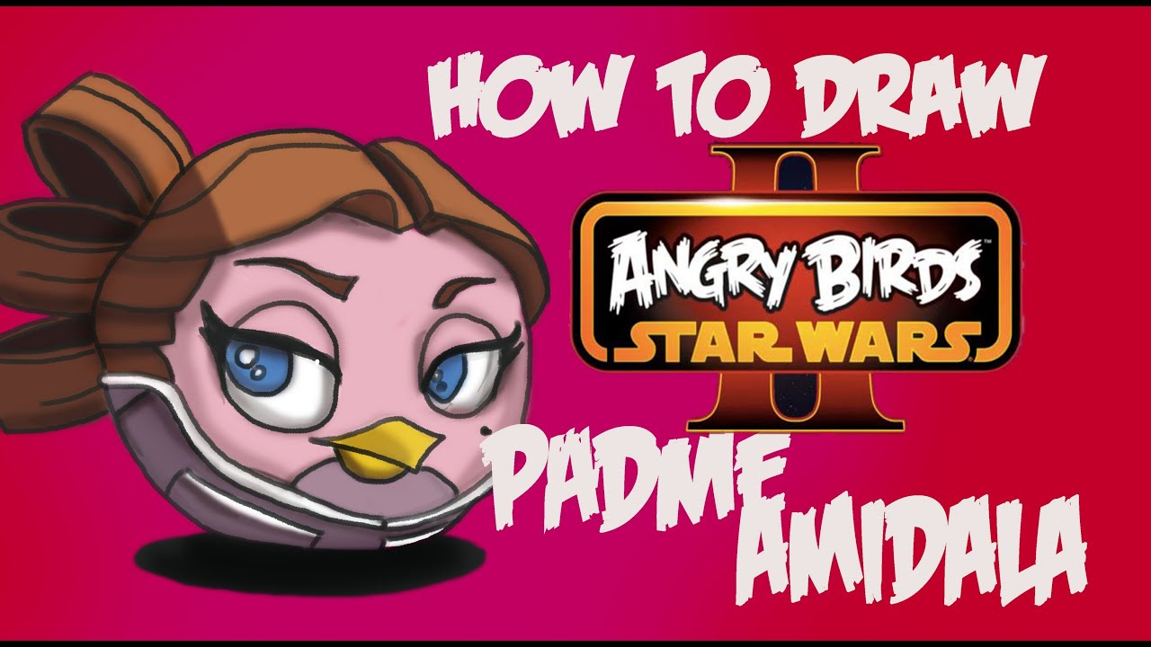 How To Draw Padmè Amidala (pink Bird) From Angry Birds