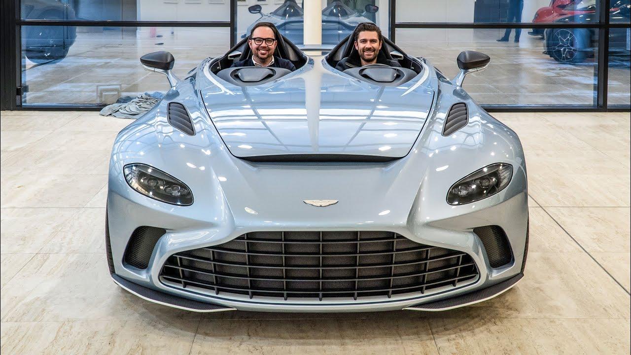 New Aston Martin V12 Speedster Inspired By Fighter Jets Youtube
