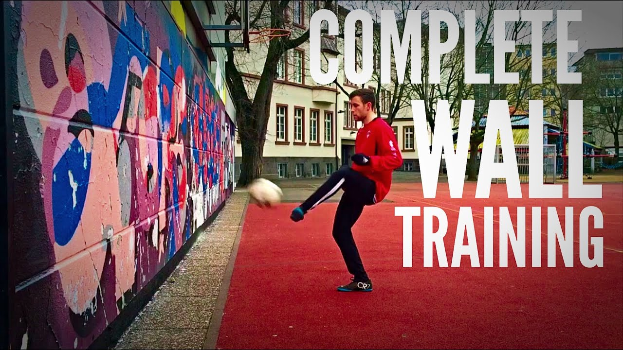 Full Soccer Training Session Just Using a Wall