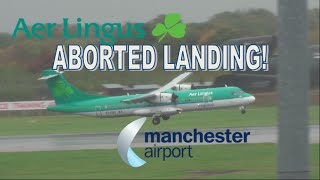 ATR 72 Aborted Landing in Strong Winds at Manchester Airport!