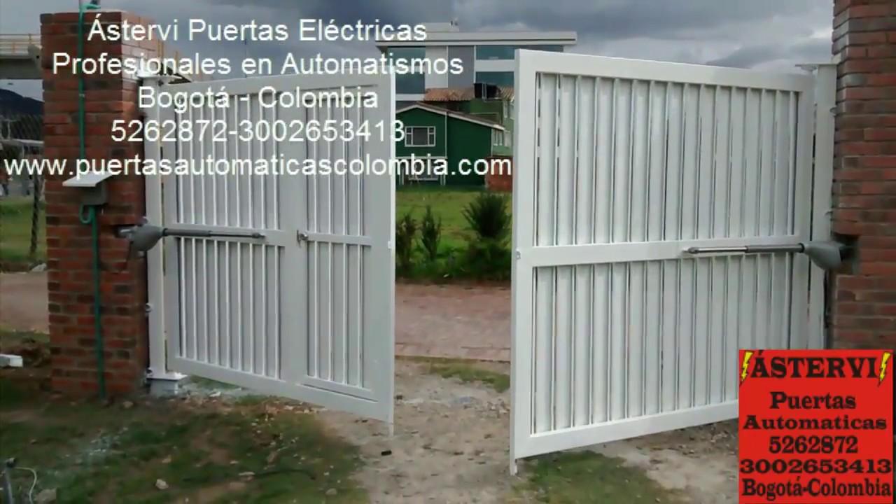 Puertas automaticas bogota abatibles youtube - Puertas para cocheras electricas ...