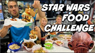 TEXAS BURGER & HOT WINGS CHALLENGE | STAR WARS FOOD CHALLENGE