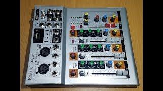 Ngồi nghịch con mixer 4 line mới về và test cho khách hàng coi