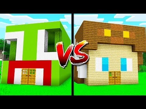 UNSPEAKABLE HOUSE vs MOOSE HOUSE IN MINECRAFT!