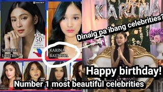 Karina bautista nag-number 1 most beautiful celebrities in the Philippines! 17th birthday full video