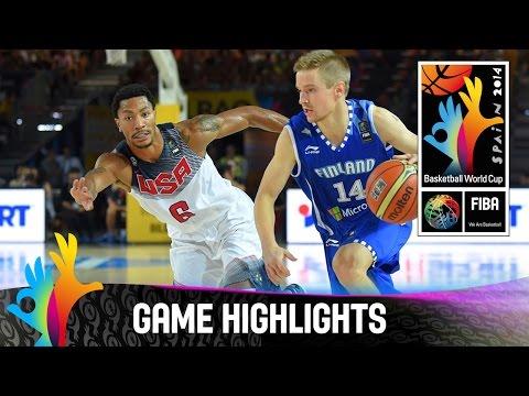USA v Finland - Game Highlights - Group C - 2014 FIBA Basketball World Cup