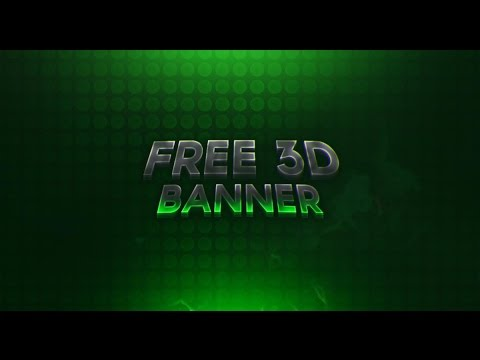 FREE GFX | Free 3D Banner Template + Download Link!