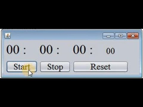 Stopwatch GUI App In Java By Using Netbeans