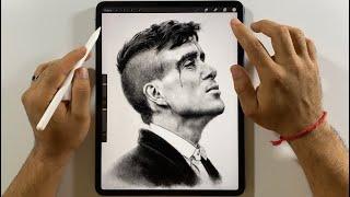 THOMAS SHELBY de la Serie PEAKY BLINDERS | Dibujo en el iPad Pro con Procreate (4K UHD)