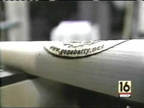 Wood Bat Making Video - Hand Turning - WNEP TV In