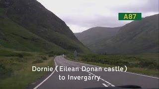 [GB] A87 Dornie (Eilean Donan castle) to Invergarry