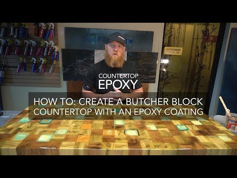 How To Create a Butcher Block Countertop with an Epoxy Coating