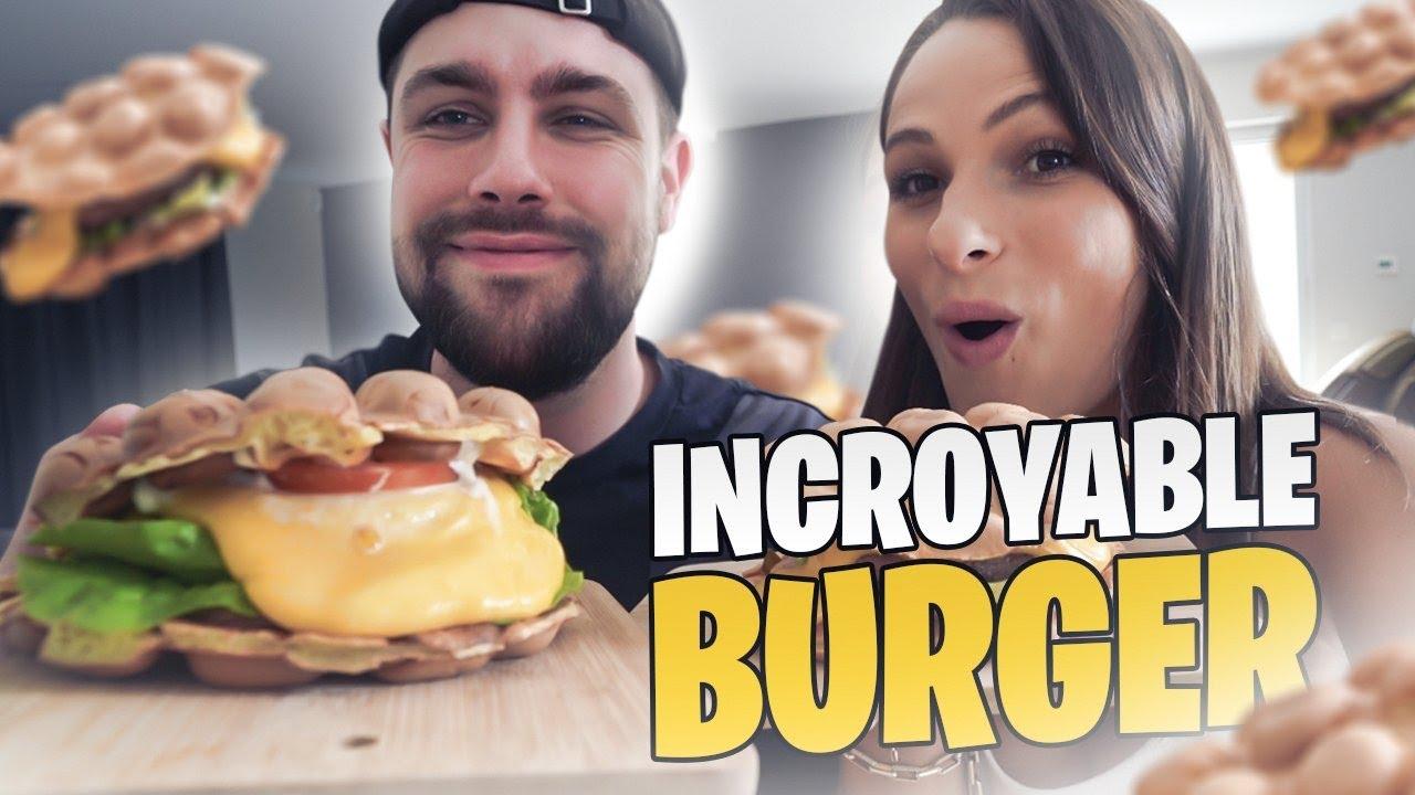 Je teste les Waffles Burgers avec Valouzz et c'est une dinguerie ! (il m'a mit 10/10) 😱