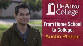 DEANZACOLLEGE First-year college student Austin Pleban, who was hom...