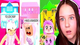 I Played The ONE COLOR HOUSE BUILD Challenge With My Hater and BFF.. (Roblox)
