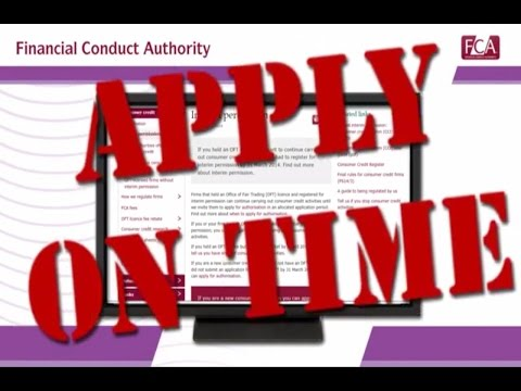 Apply for consumer credit authorisation - Financial Conduct Authority