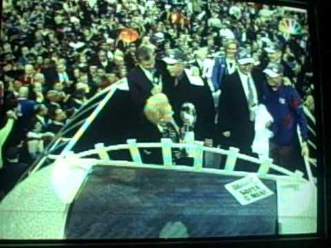 NFL Super Bowl XLVI Post-Game Ceremony