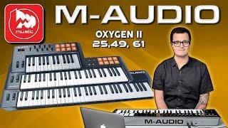 M-AUDIO OXYGEN II ( MIDI клавиатуры 25,49, 61 клавиша)
