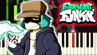 Friday Night Funkin' - VS Garcello FULL WEEK on PIANO видео