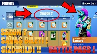 YOU'VE BEEN !! SEASON 7 BATTLE TICKET !! (BATTLE PASS) Fortnite Battle Royale English