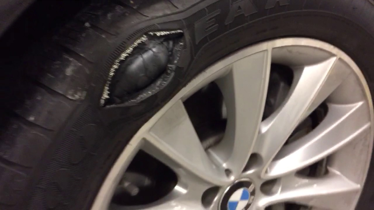 goodyear eagle ls runflat giant bubble blows  youtube