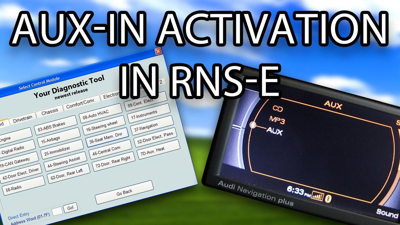 how to enable aux in in audi rns e a3 a4 a6 tt r8 exeo gallardo vag com vcds vas youtube [ 1280 x 720 Pixel ]
