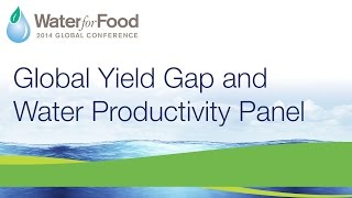 Day 2, Part  2/4 – Global Yield Gap & Water Productivity Panel | 2014 Water for Food Conference