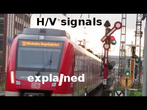 Simple explanation of the German railway signalling system H/V