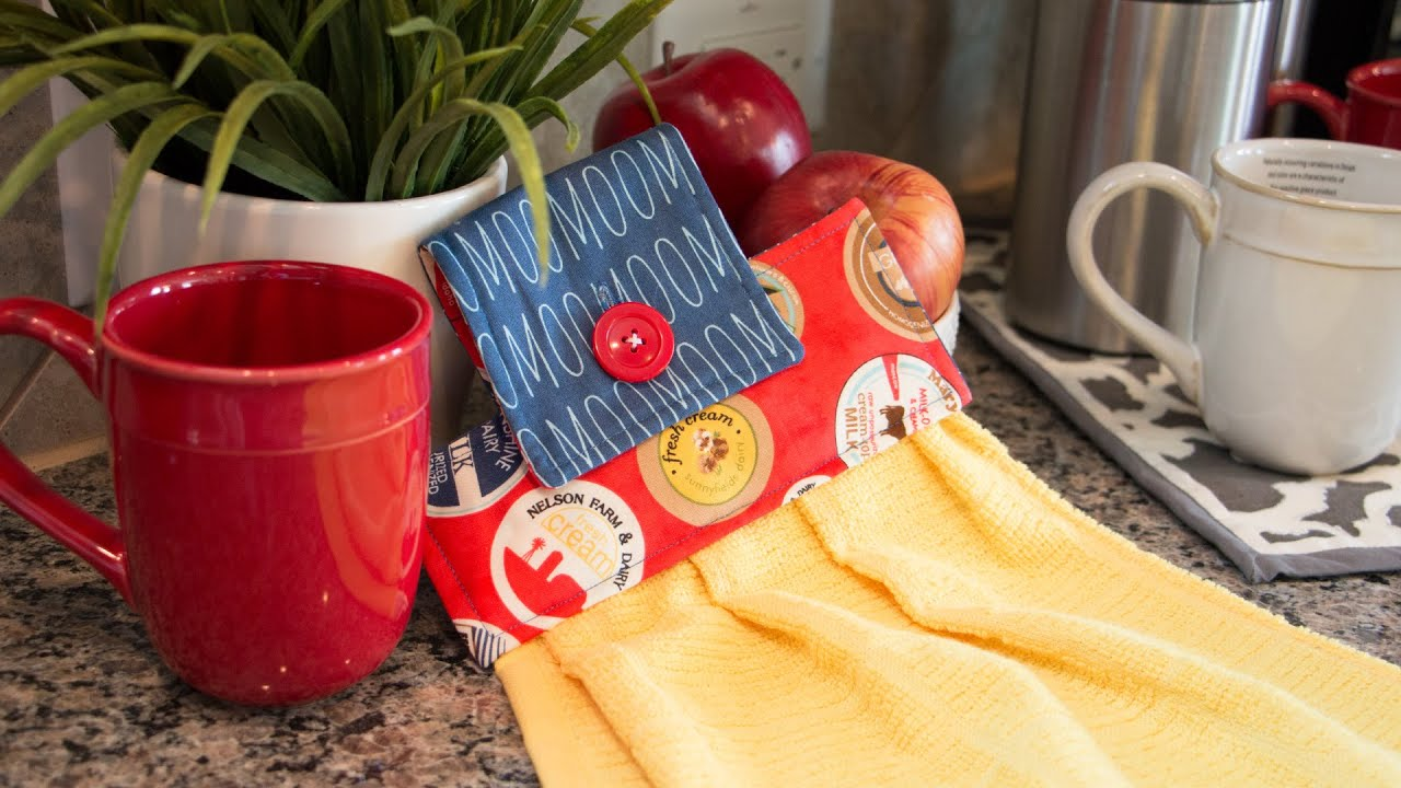 Kitchen Towel Hanging How To Make A Hanging Hand Towel For Your Kitchen Fat Quarter