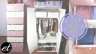 Tour Armadio Delle Bimbe ♡ Kids Closet Organization // Elenatee
