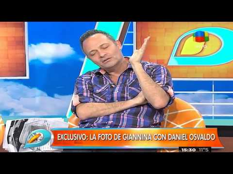 Giannina Maradona en los brazos de Daniel Osvaldo