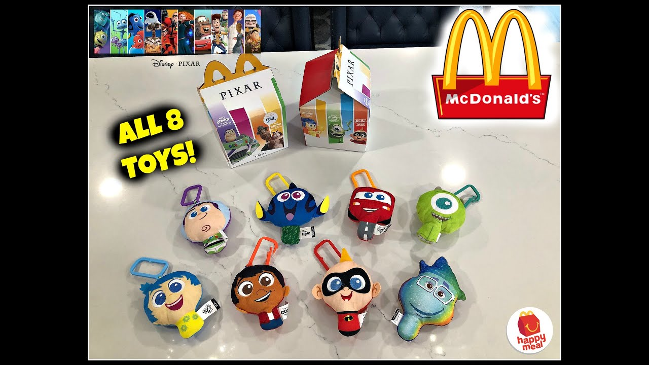 Disney Pixar Movies Mcdonalds Happy Meal Toys All 8 Toys Aug