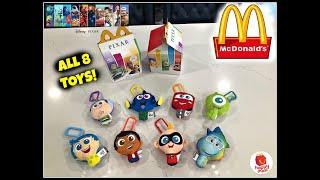 DISNEY PIXAR MOVIES MCDONALDS Happy Meal Toys! All 8 Toys! Aug 2020