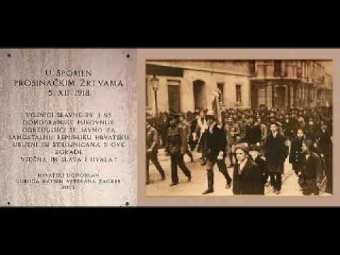 Prosinacke Zrtve 1918 Youtube
