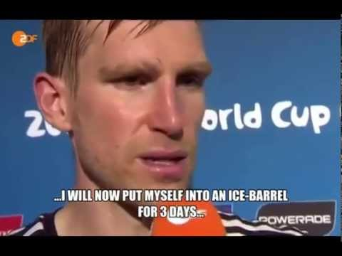 Per Mertesacker Interview right after the 2-1 win vs. Algeria at the World Cup 2014 *ENGLISH SUBS*