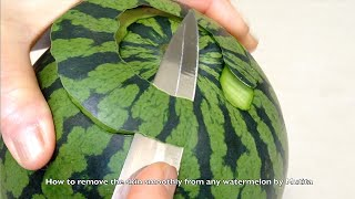 Best Way How To Remove And Smooth Watermelon Skin - Carving Tips Lesson 5 By Mutita Art Of Fruit