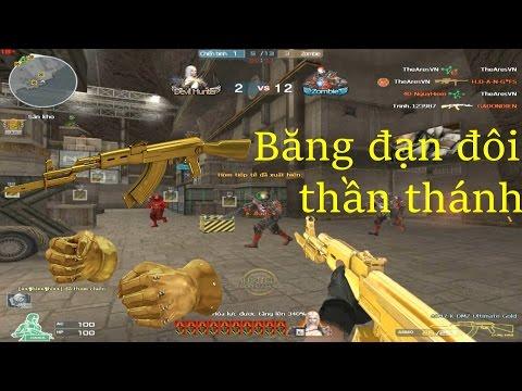 [ Bình Luận CF ] AK47-K-DMZ-Ultimate Gold, Gold Fist - Tiền Zombie v4