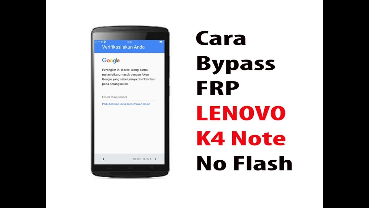 How To Bypass Frp Lenovo K4 Note A7010a48 No Flash Youtube