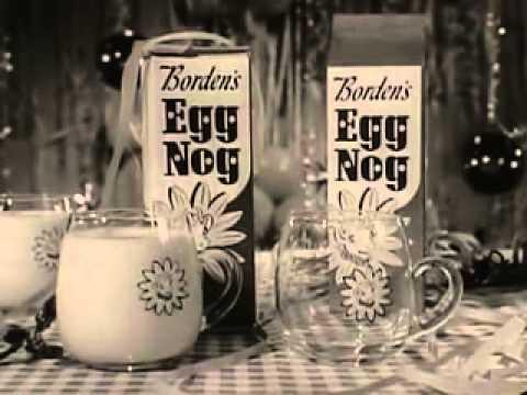VINTAGE 60's BORDEN'S EGG NOG AD - ELSIE PROMOTING A CONCOCTION OF CHICKEN & COW  PRODUCTS (EGG NOG)