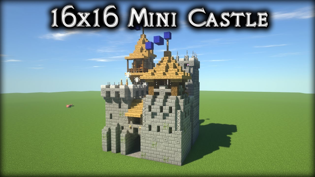 Minecraft 16x16 Oak Plains Castle Timelapse Youtube