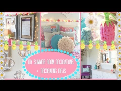 Diy summer room decorations ideas for decorating for Diy room decorations youtube
