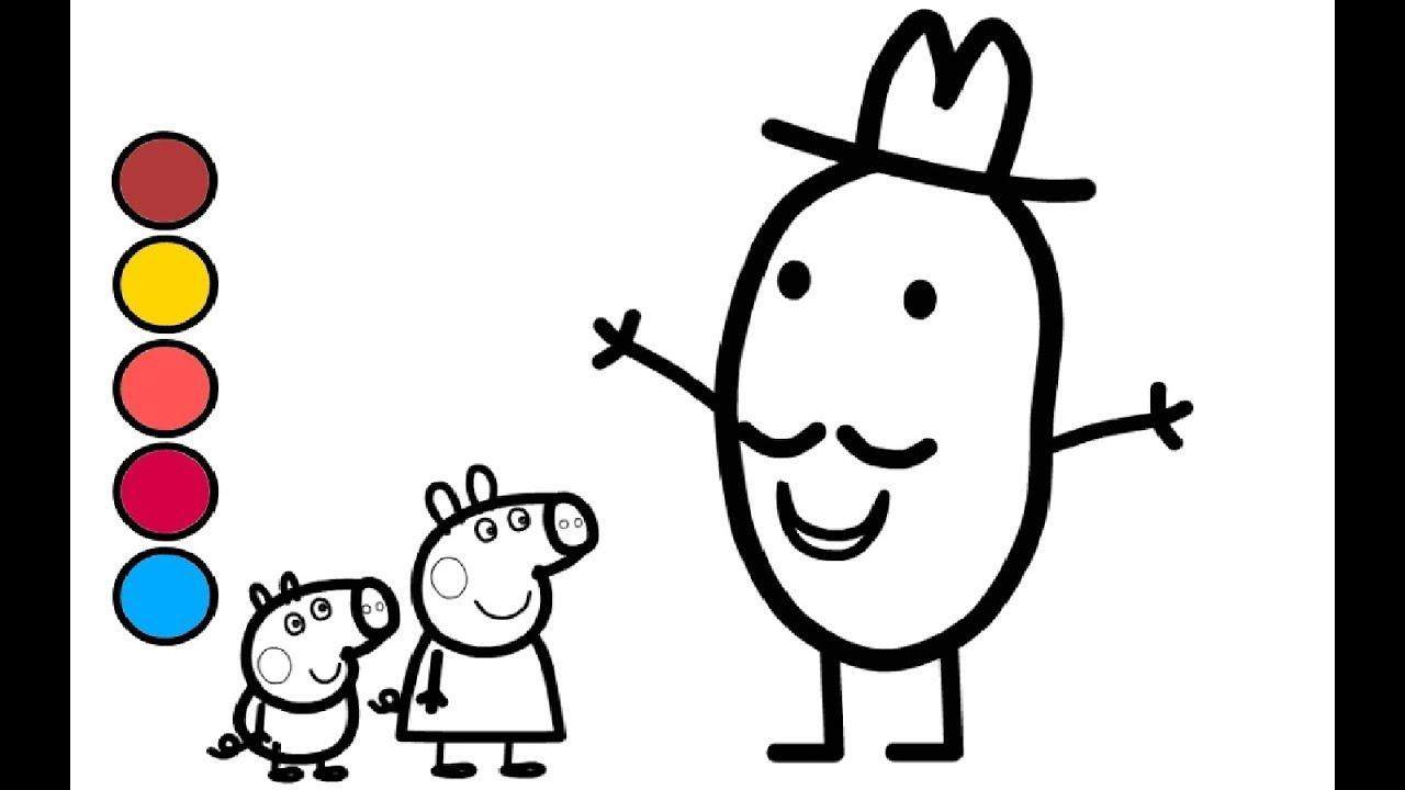 peppa wutz und mr.kartoffel deutsch zeichnen und malen für