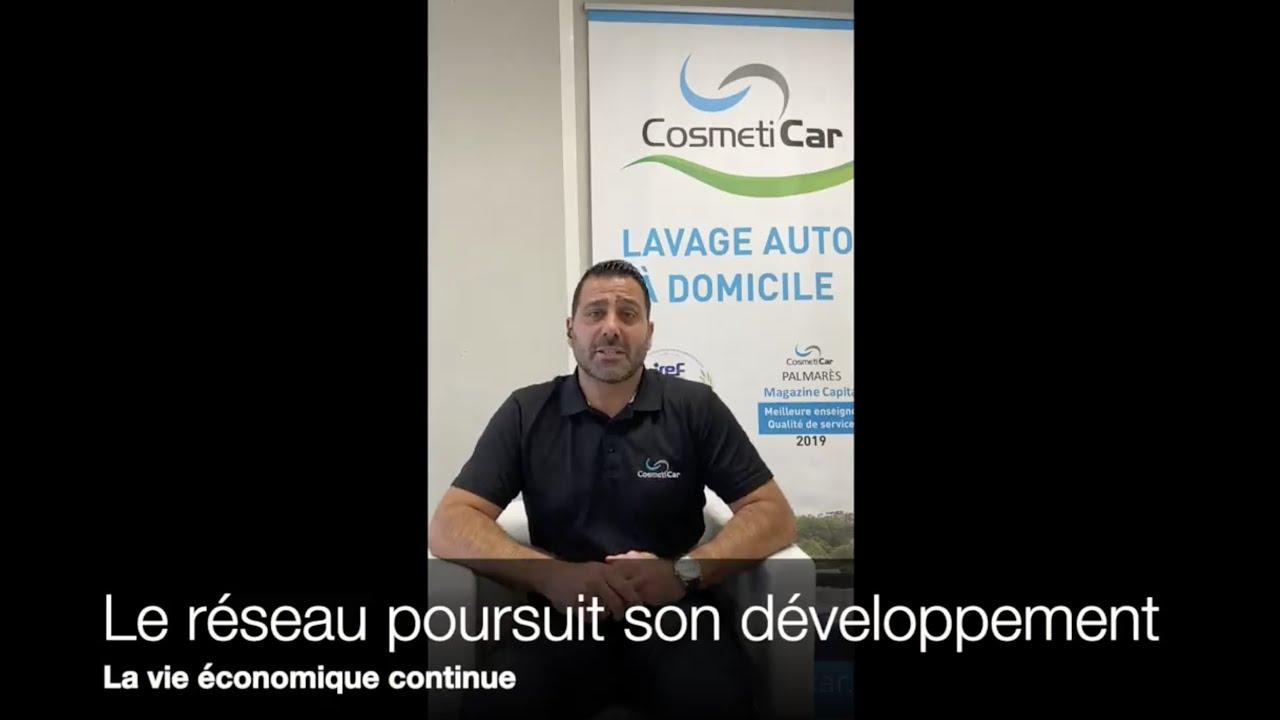 """Le réseau de franchise CosmétiCar continue son développement : """"Innover en  période de crise"""""""