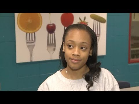 Interview with Concordia high school's Symone Black after signing with Purdue track.
