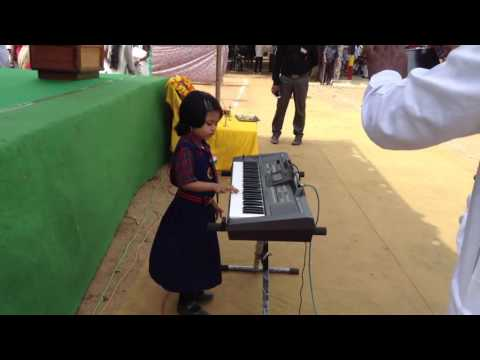 JANA GANA MANA Played on Piano - by Chinnary (6yrs) old kid